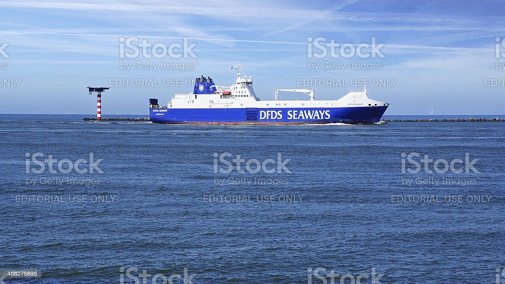 DFDS Seaways Ship. Netherlands stock photo