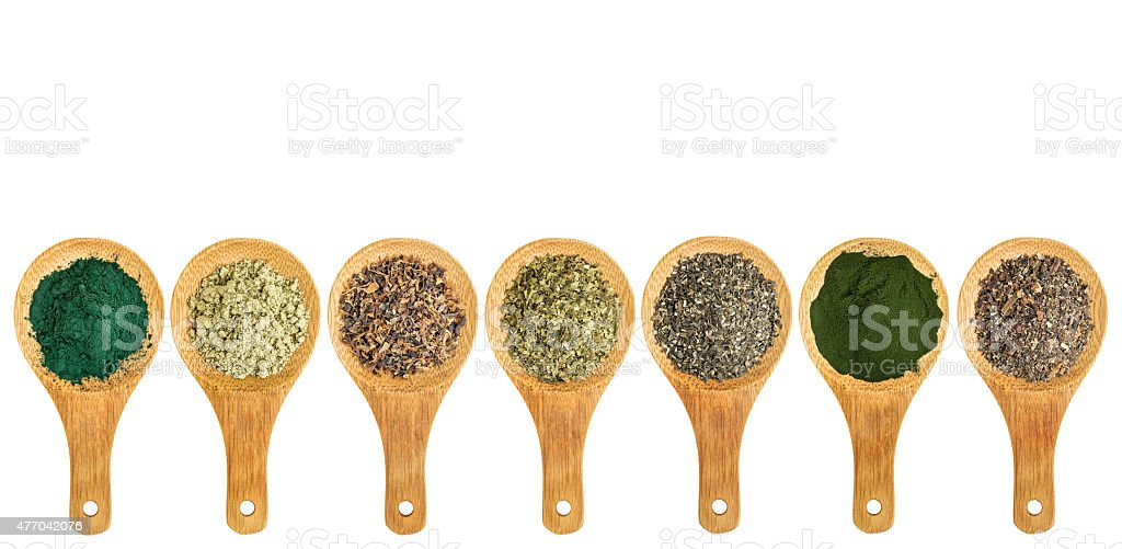 seaweed and algae nutrition supplements stock photo