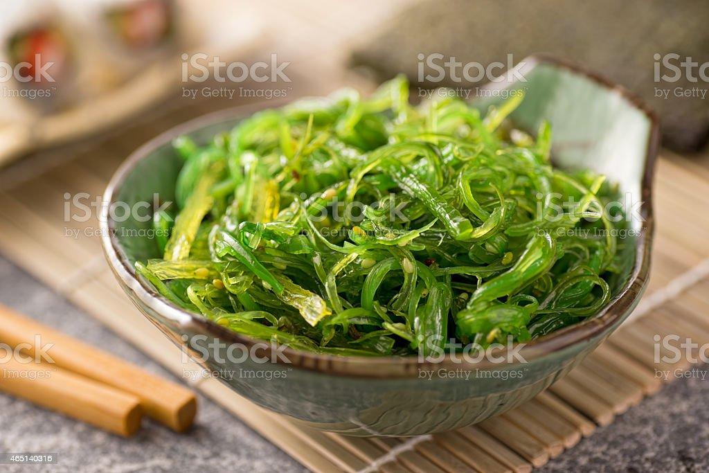 Seaweed Salad stock photo