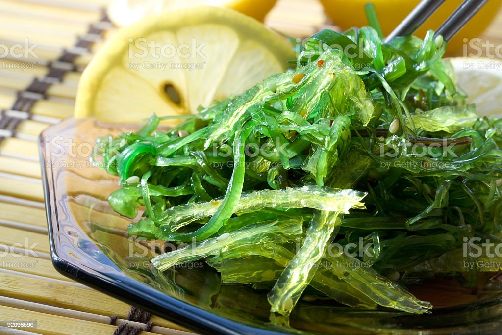 Seaweed wakame salad royalty-free stock photo