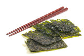 Seaweed with chopsticks