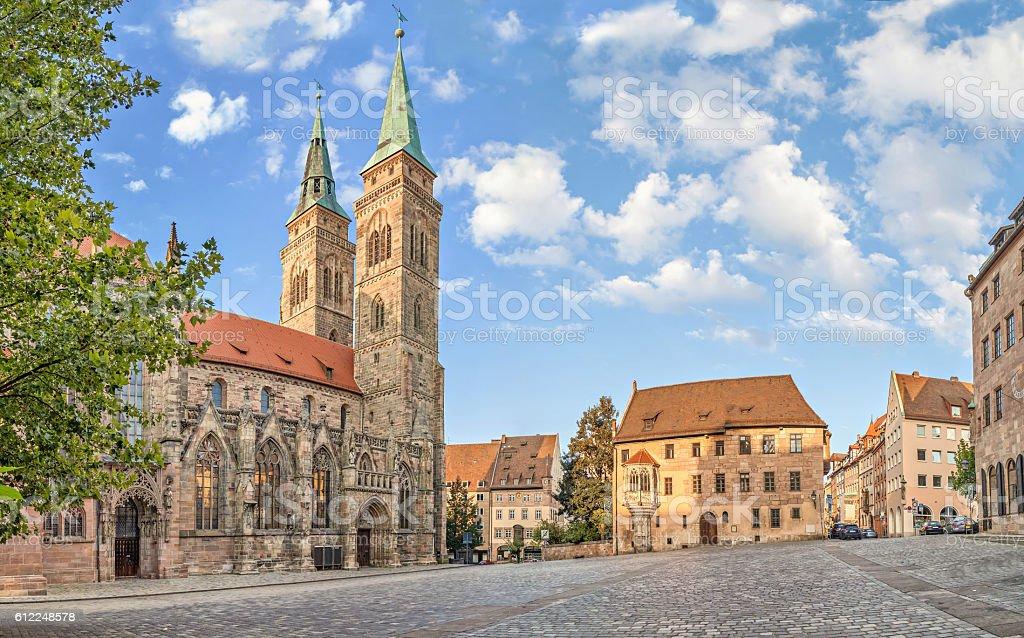 Sebalder square in Nuremberg stock photo