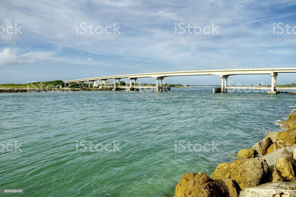 Sebastian Inlet in Florida stock photo
