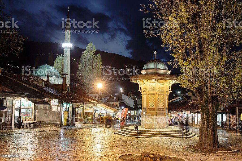 Sebilj Square, Sarajevo, Bosnia and Herzegovina stock photo