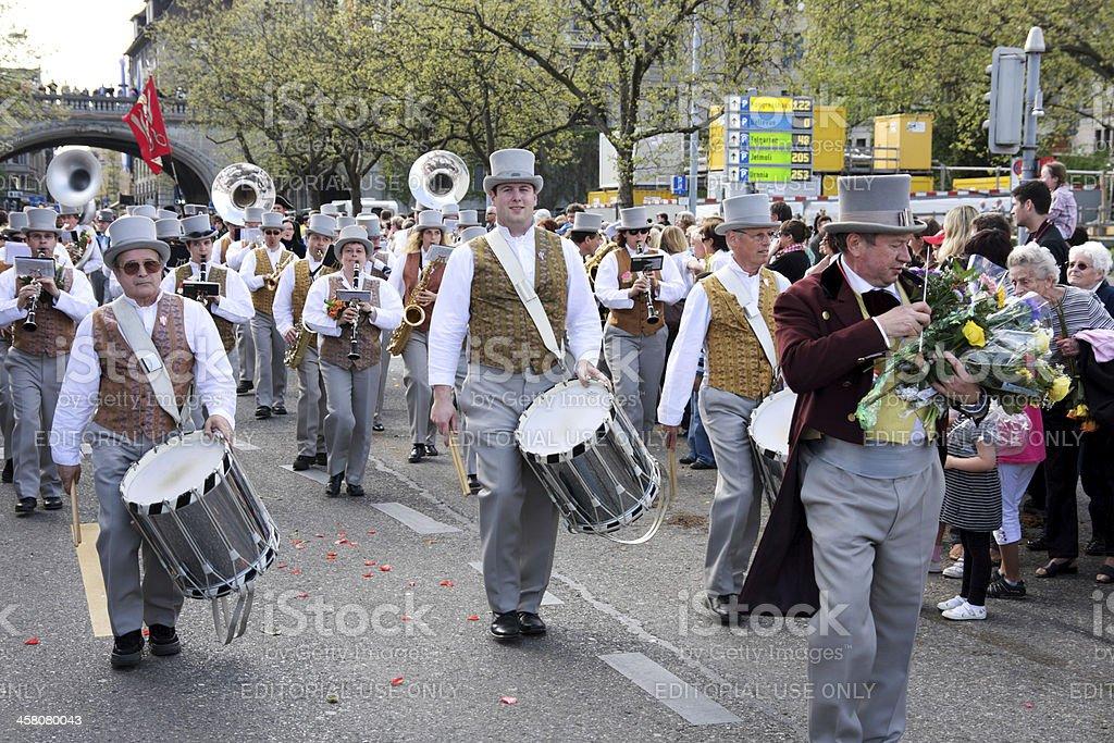 Sechselauten (Sechseläuten) parade in Zürich Lizenzfreies stock-foto