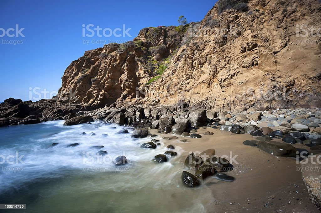 Secluded beach cove royalty-free stock photo