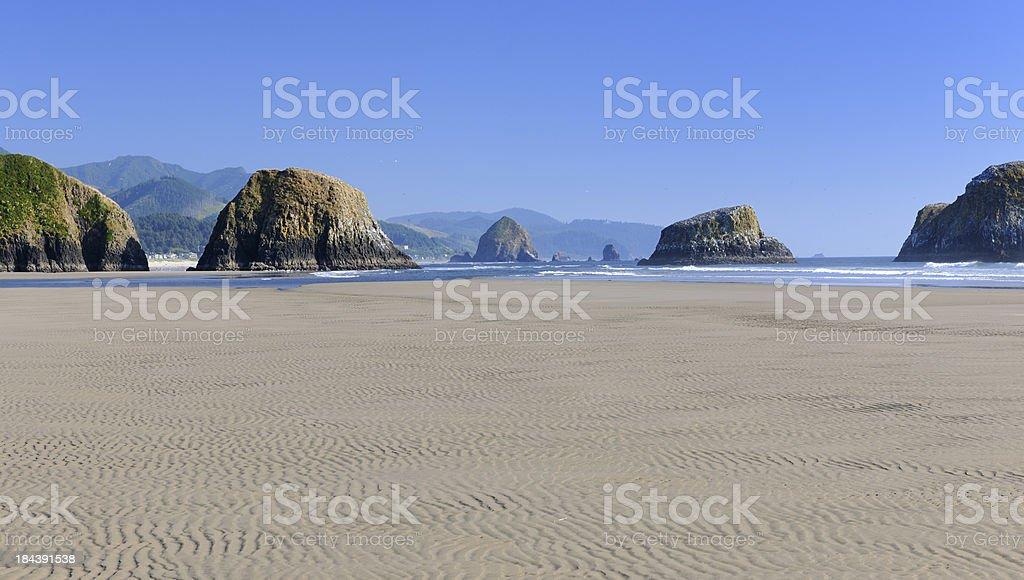 Secluded Beach, Ecola State Park, West Coast, Oregon (XXXL) royalty-free stock photo