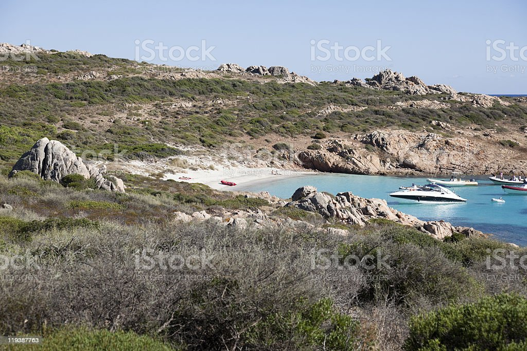 Secluded beach. royalty-free stock photo