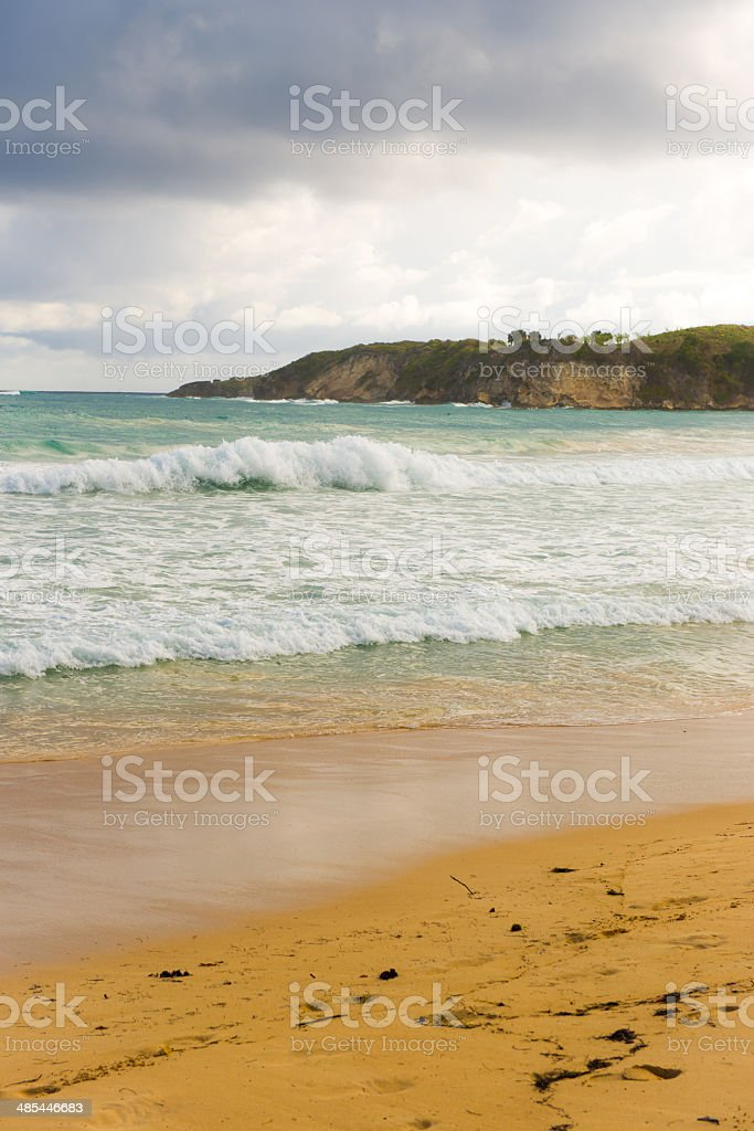 Secluded beach stock photo