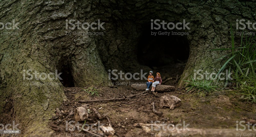 secluded forest romance outdoors stock photo