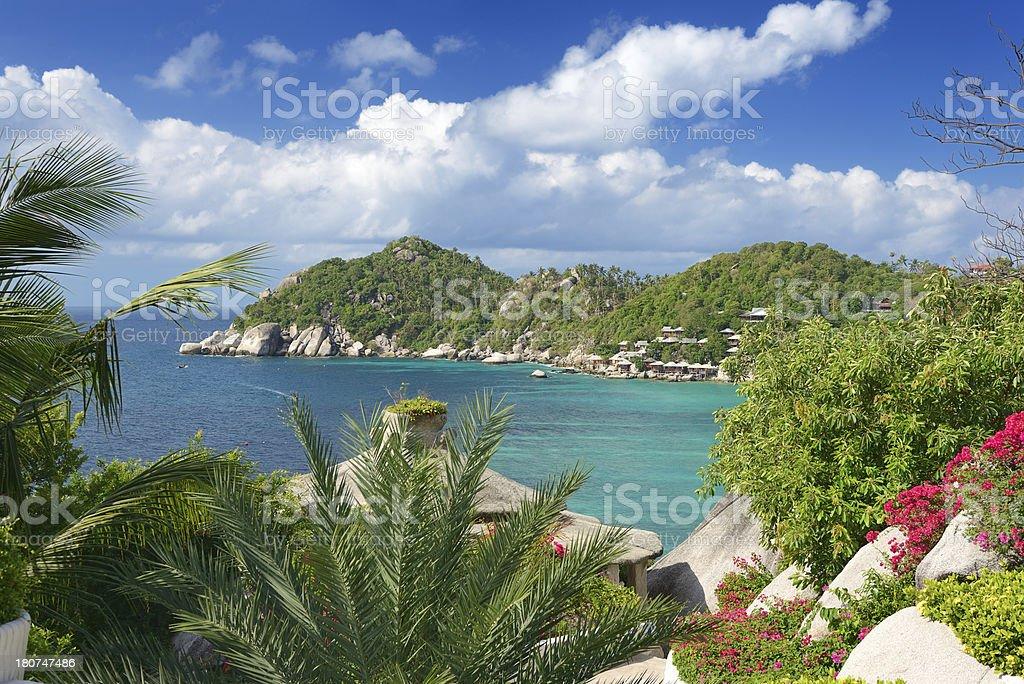 Secluded Paradise Tropical Beach, Shark Bay, Koh Tao, Thailand (XXXL) stock photo