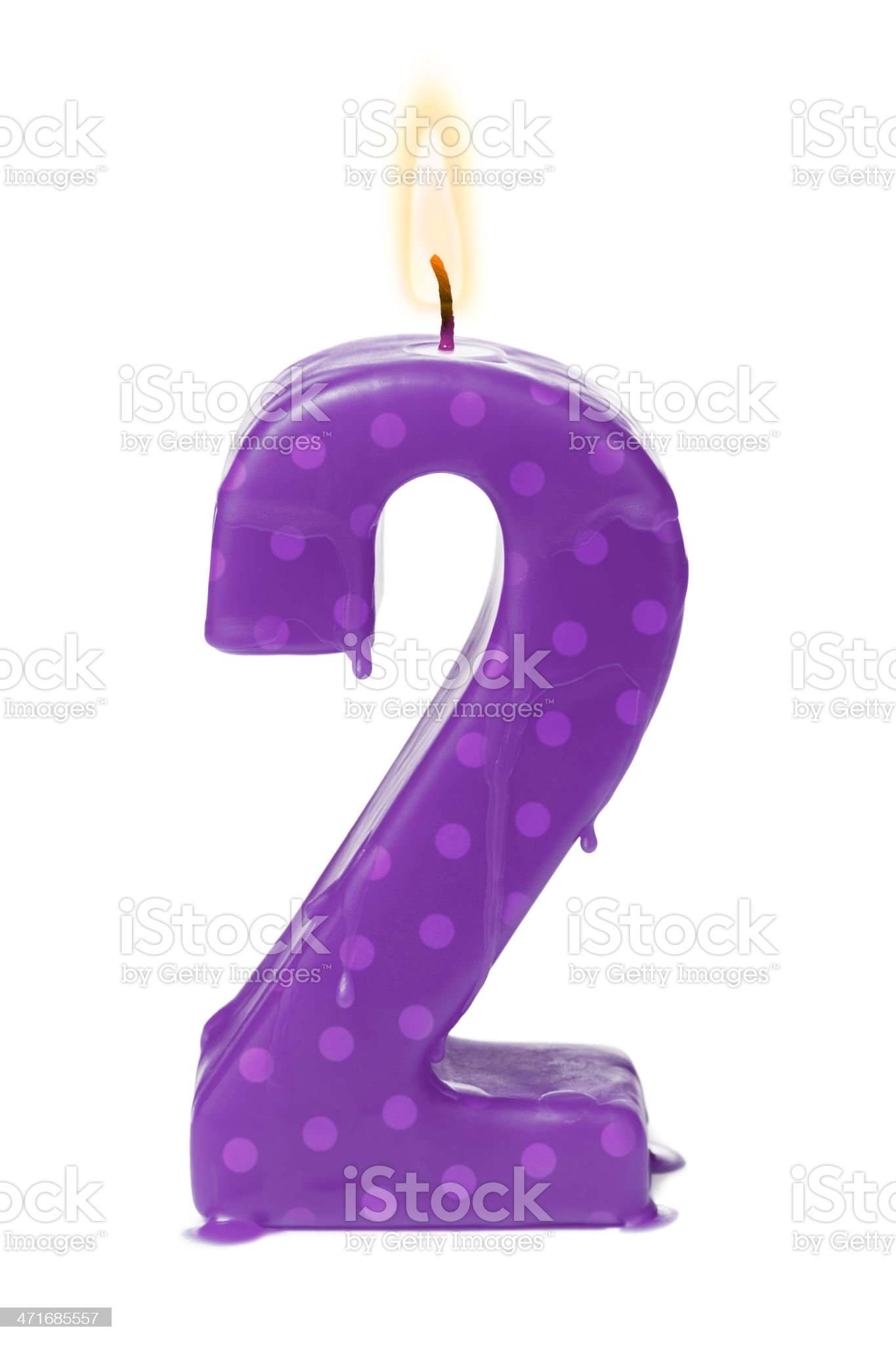 Second 2nd birthday or anniversary royalty-free stock photo