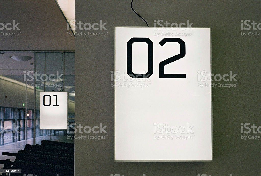 second and first stock photo