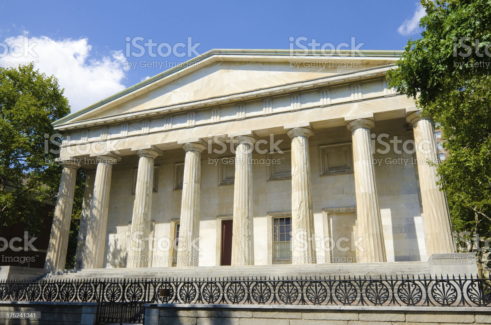 Second Bank of the United States in Philadelphia, PA royalty-free stock photo