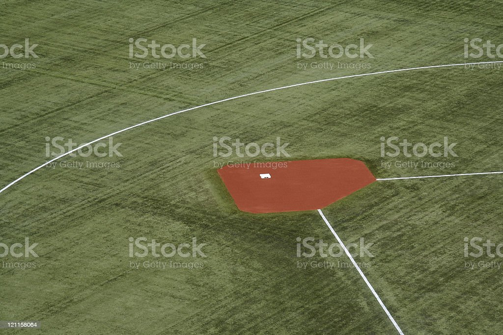 Second Base royalty-free stock photo