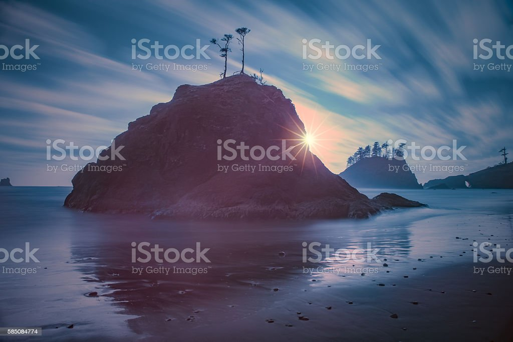 Second Beach long exposure stock photo