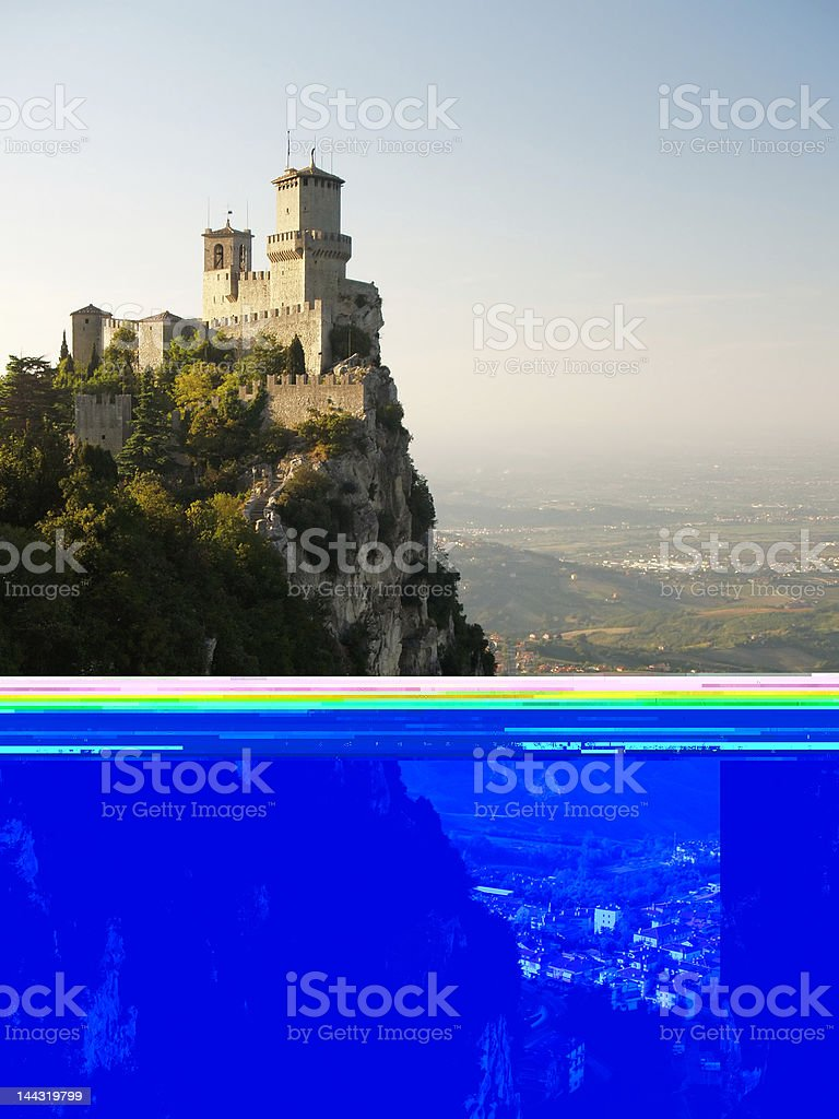 Second Castle, San Marino stock photo