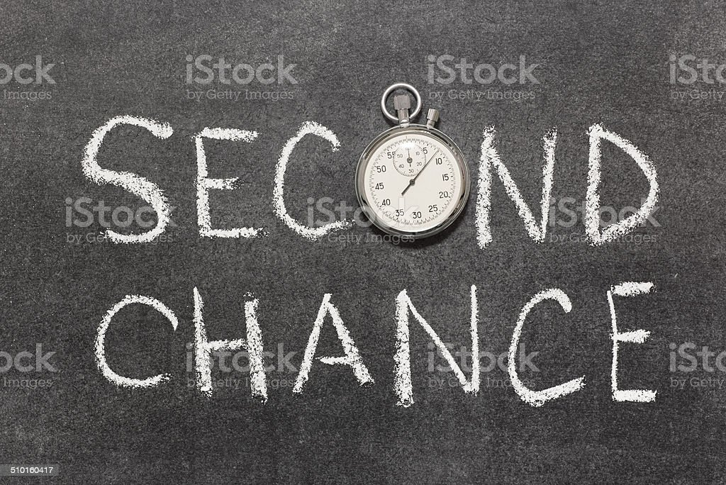 second chance stock photo