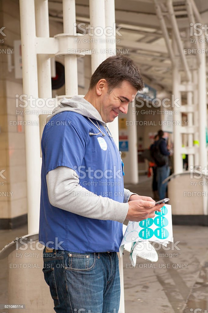 Second Day of the Forty Eight Hour Strike. stock photo