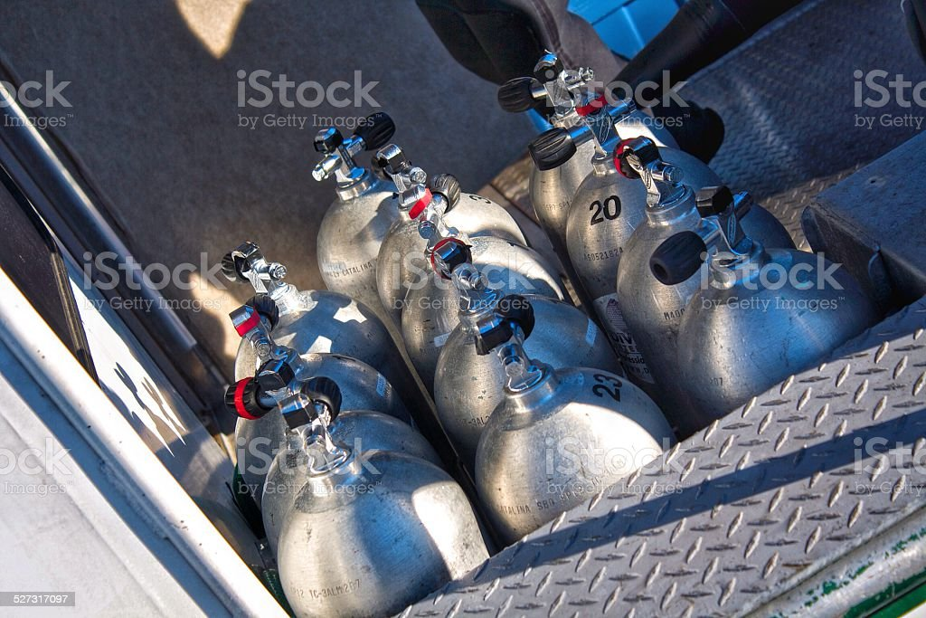 Second Dive Scuba Tanks stock photo