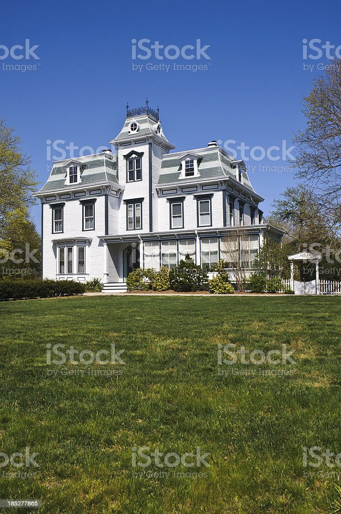 Second Empire Style Home stock photo
