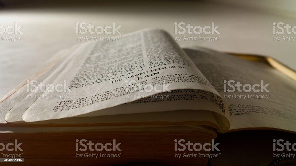 Second Epistle of John stock photo