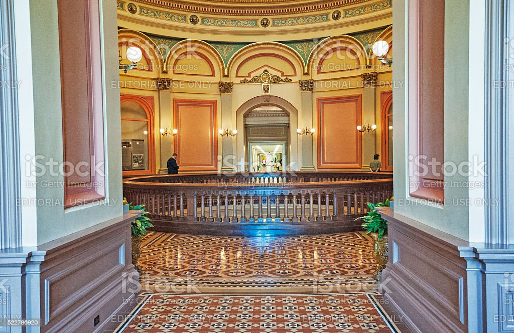 Second Floor California State Capitol stock photo