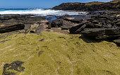 Second (secret) green sand beach, Hawaii
