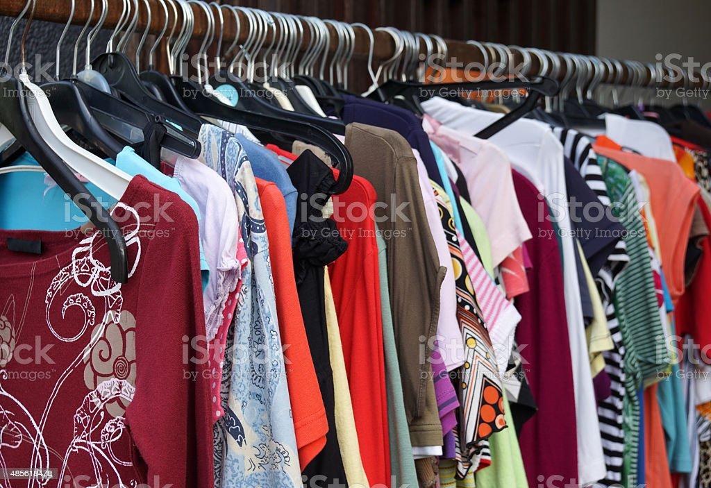 second hand ladieswear fashion stock photo