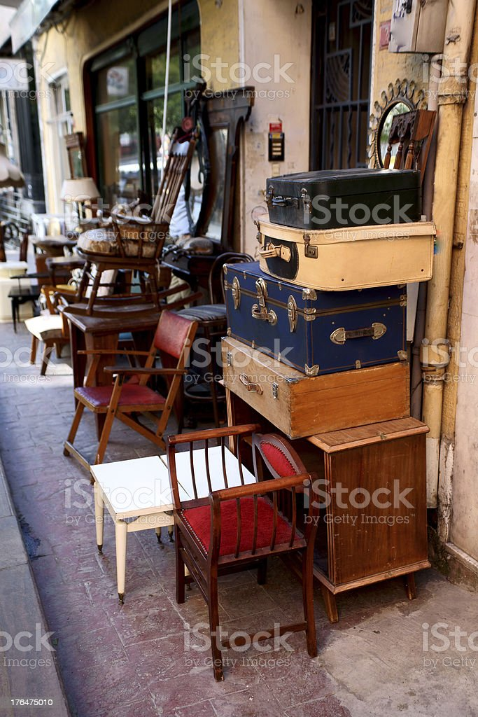 second hand shop stock photo