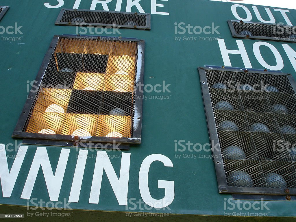 Second Inning royalty-free stock photo
