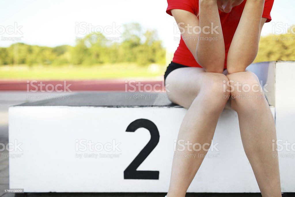 second is first loser stock photo
