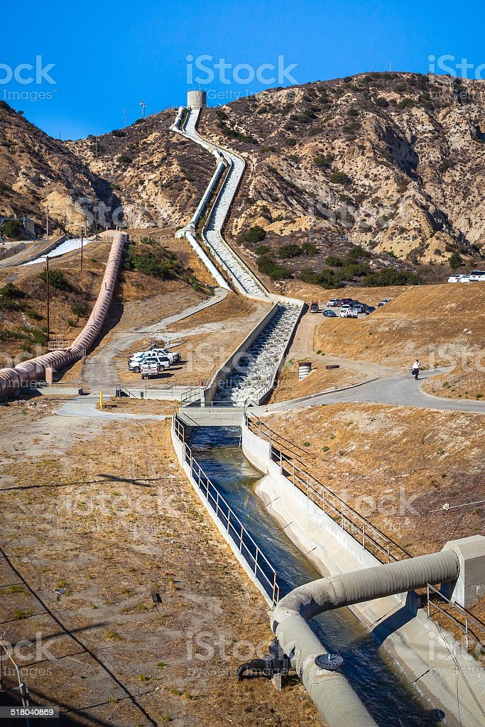 Second Los Angeles Aqueduct Cascades royalty-free stock photo