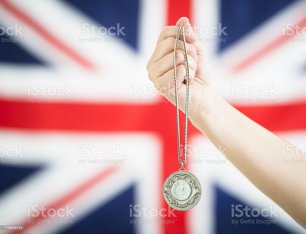 Second place silver generic medals royalty-free stock photo