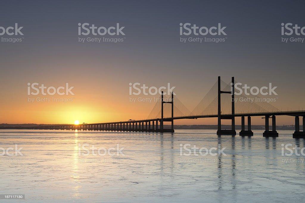 Second Severn Crossing bridge royalty-free stock photo