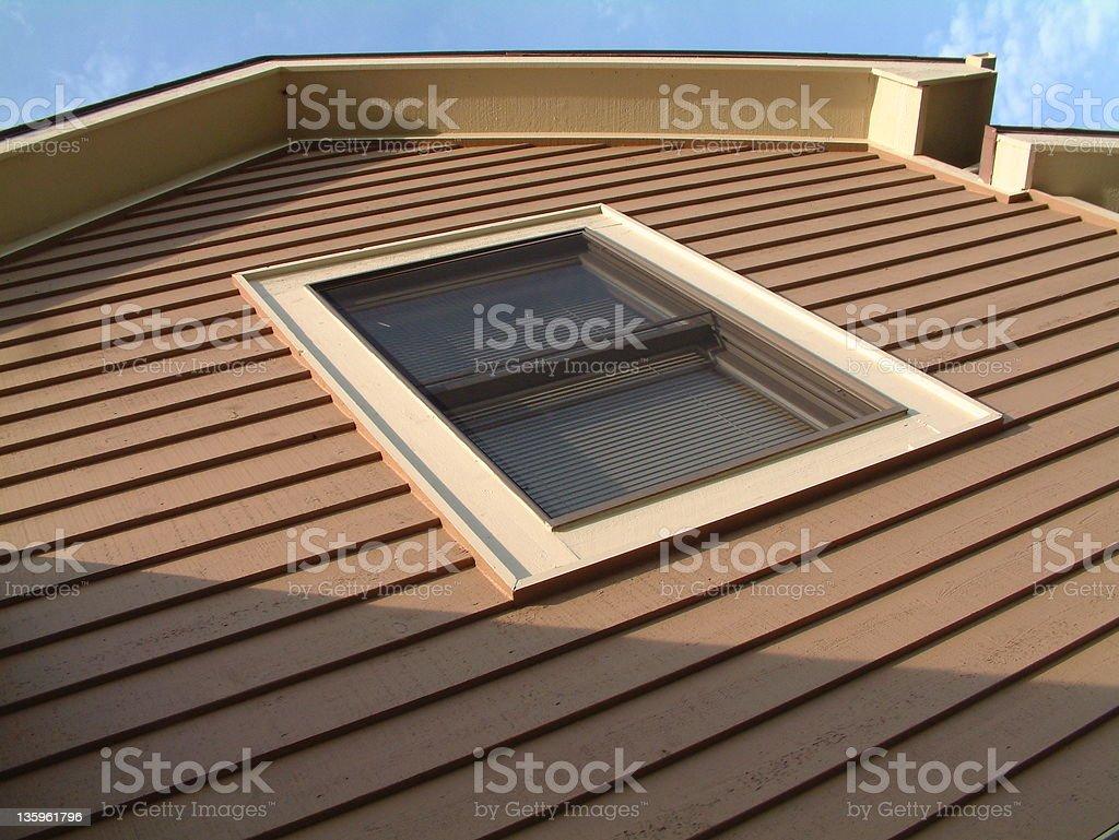 Second Story House Window 3 stock photo