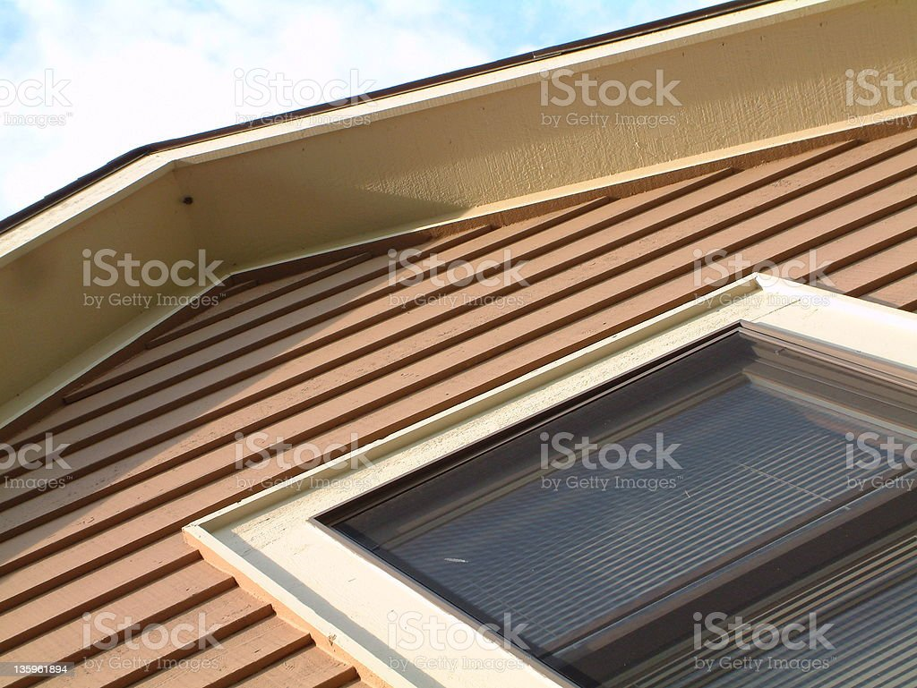 Second Story House Window 5 stock photo
