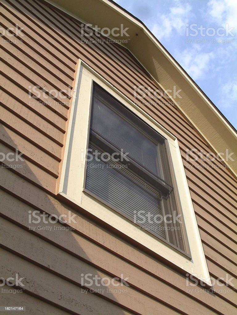 Second Story House Window Siding 1 stock photo
