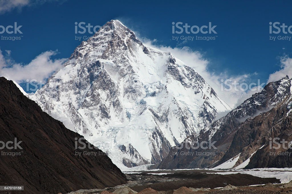 K2 - second summit in th world. stock photo