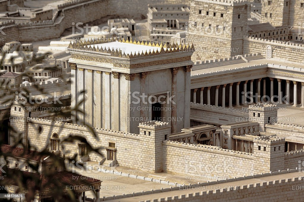Second Tempel in Jerusalem model stock photo