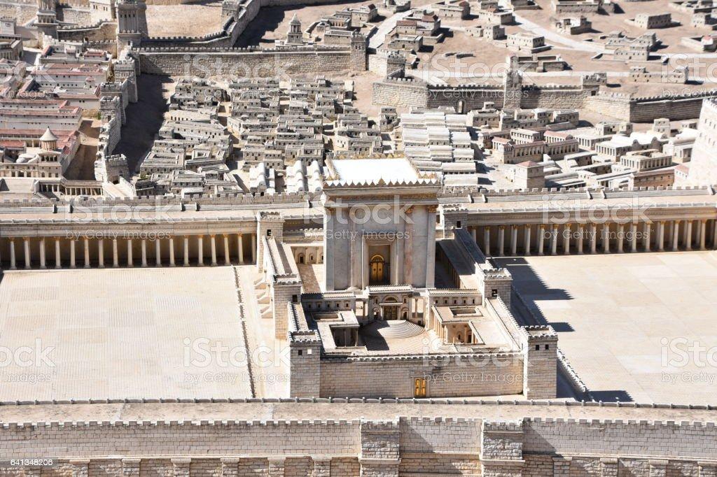 Second Temple. Ancient Jerusalem stock photo