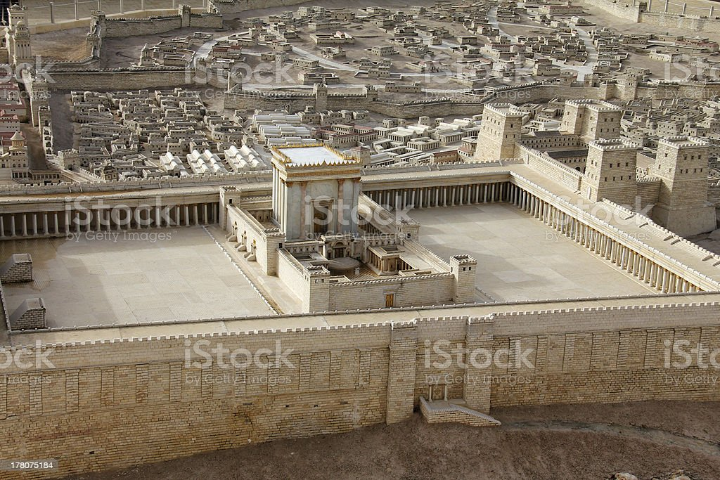 Second Temple. Model of the ancient Jerusalem. royalty-free stock photo