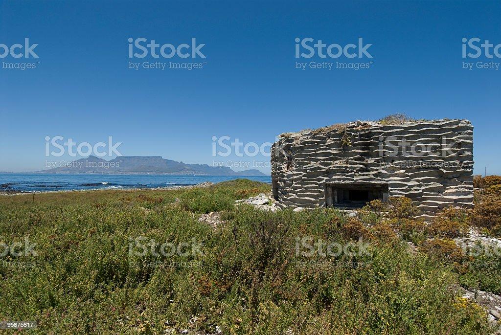 second world war gun turret on robben island stock photo