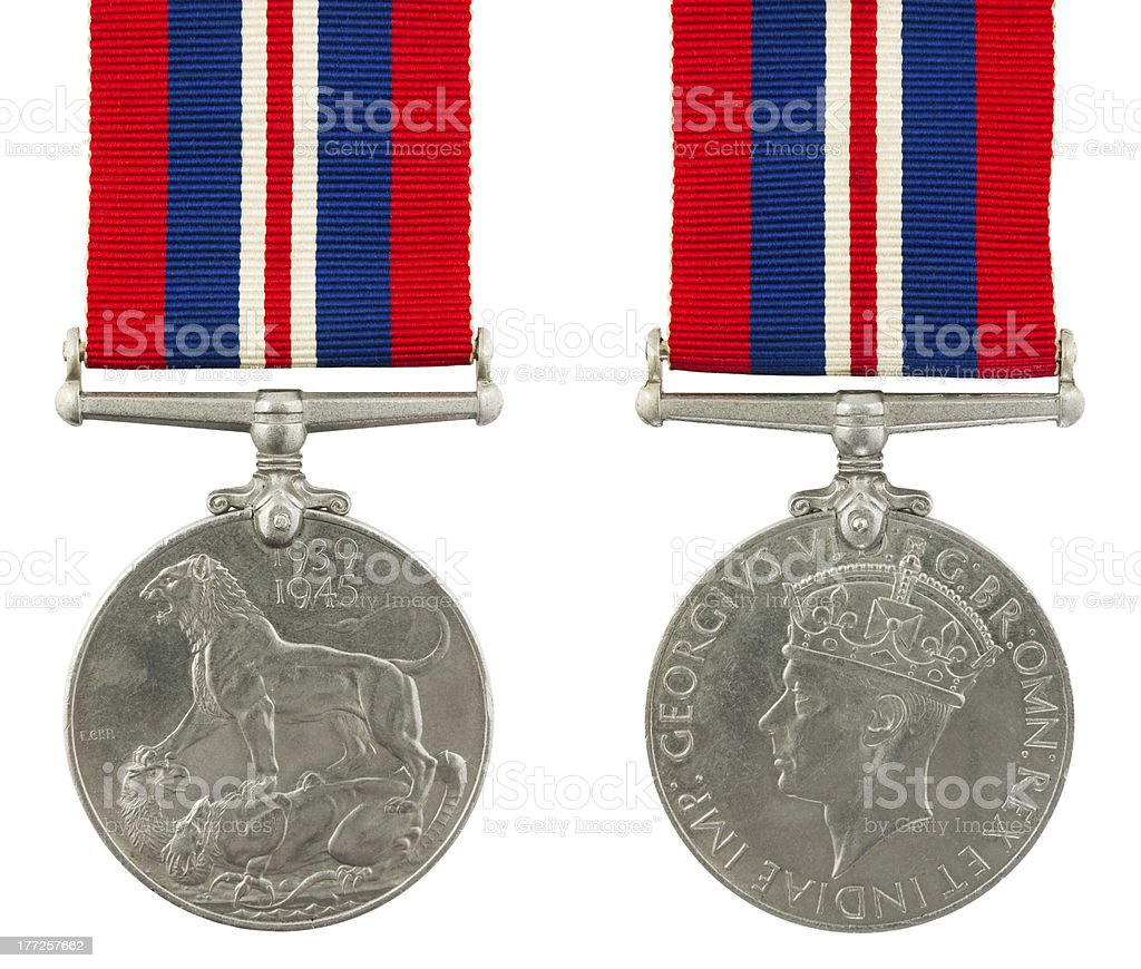 1939-1945 Second World War Medal royalty-free stock photo