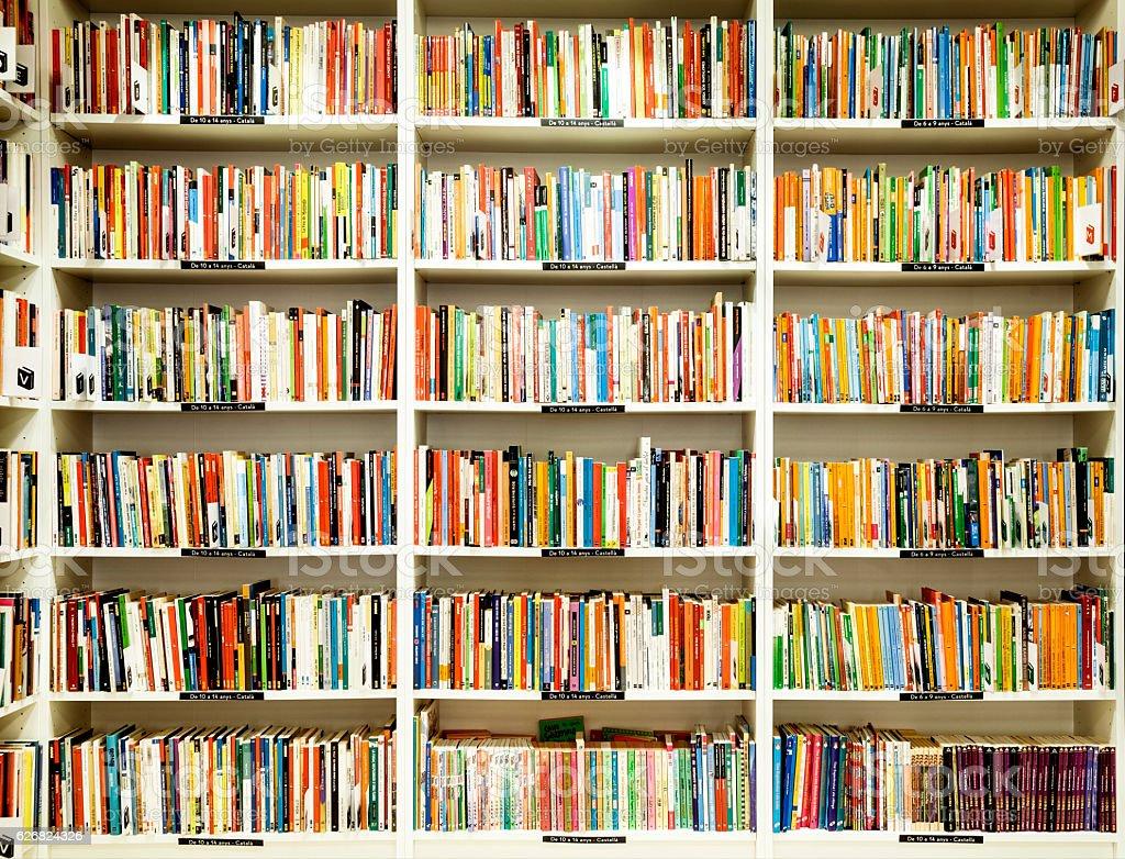 Second-hand bookstore stock photo