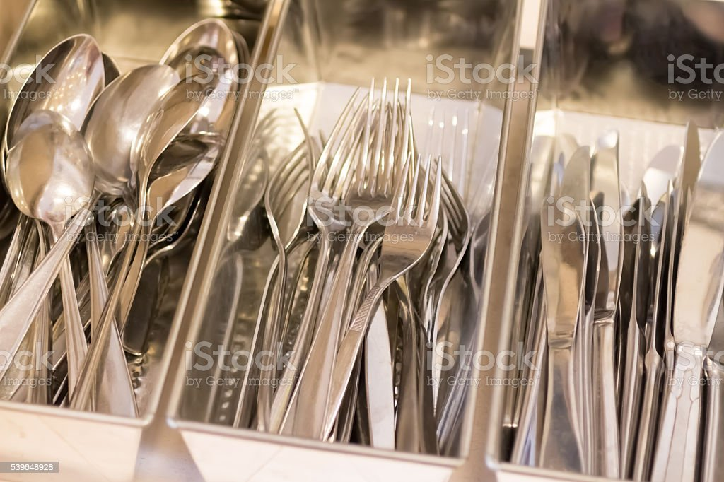 Second-hand Cutlery stock photo