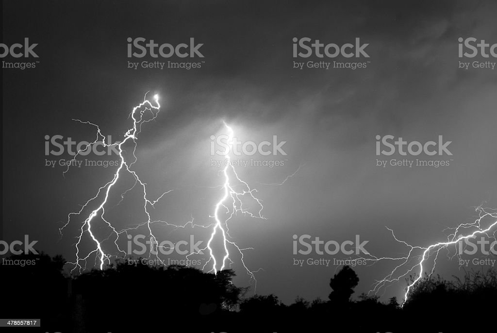 30 Seconds of Lightning stock photo