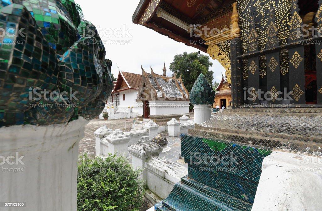 SE.corner-Sim or Congregation Hall. Wat Xieng Thong-Luang Prabang-Laos 4103 stock photo