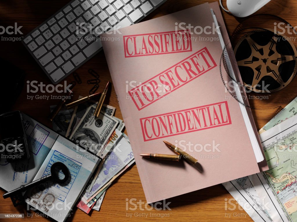 Secret Agent in a Office royalty-free stock photo