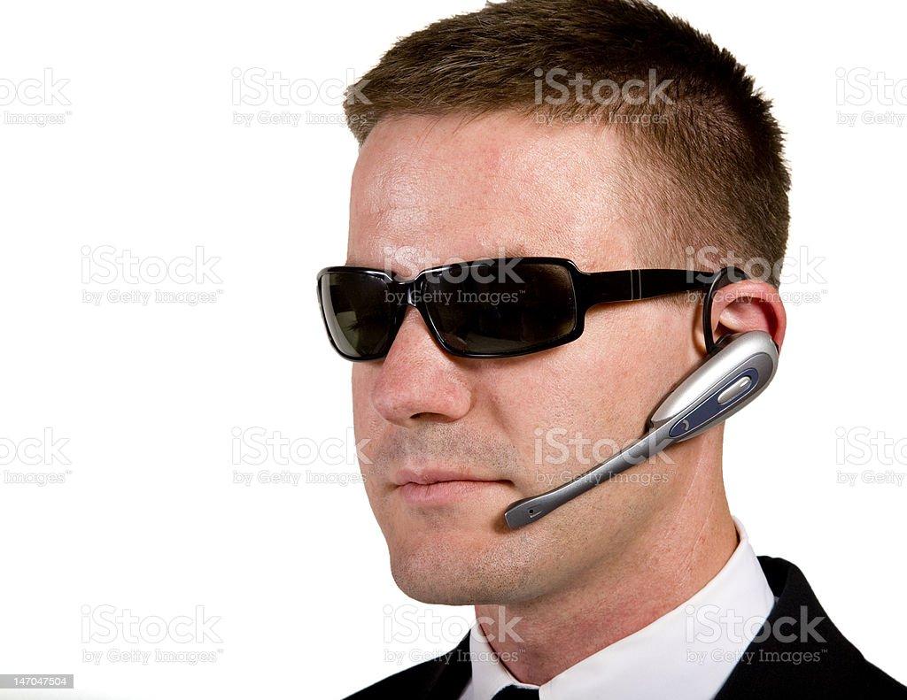 Secret Agent Listening royalty-free stock photo